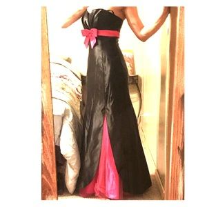 Black & hot pink prom dress evening gown